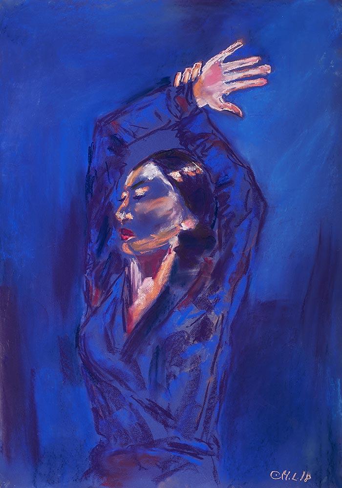 Flamencotänzerin-70x100cm