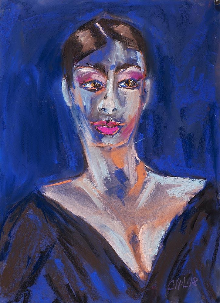 Lady-in-Blau-50x70cm
